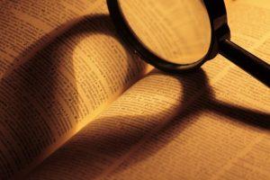 本に映ったハートの影