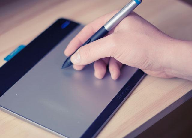 iPadに書いている