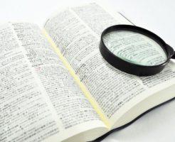辞書を調べる